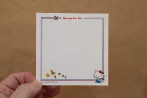 ハローキティなつかしのアイテムコレクション創刊号付録のメッセージカード